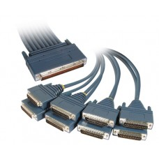 Cisco 8 Lead Octal Cable and 8 Male RS232/V.24 DTE Connectors