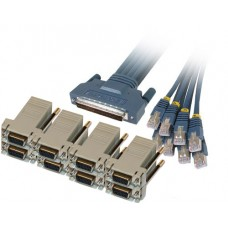 Cisco CAB-OCTAL-ASYNC Cable and 8 RJ45 to DB9 Female Adapters