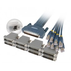 Cisco CAB-OCTAL-ASYNC Cable and 8 RJ45 to DB25 Female FDTE Adapters