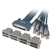 Cisco CAB-OCTAL-ASYNC Cable and 8 RJ45 to DB25 Male Adapters