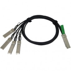 Cisco 40GBASE-CR4 QSFP+ to 4 10GBASE-CU SFP+ passive direct-attach copper transceiver assembly, 5 meter
