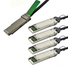 Cisco 40GBASE-CR4 QSFP+ to 4 10GBASE-CU XFP passive direct-attach copper transceiver assembly, 0.5 meter